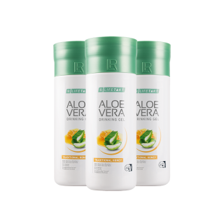 Aloe Vera Drinking Gel Traditional s medem - Série 3 x 1000 ml